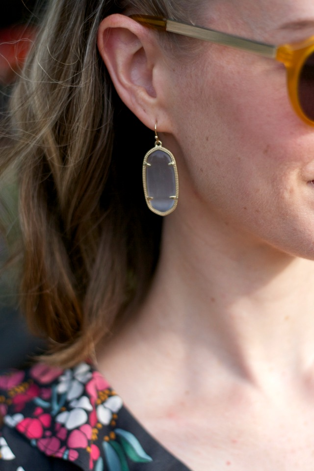 Kendra Scott Elle drop earrings in slate