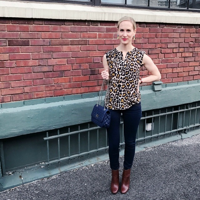 leopard print, ankle boots outfit