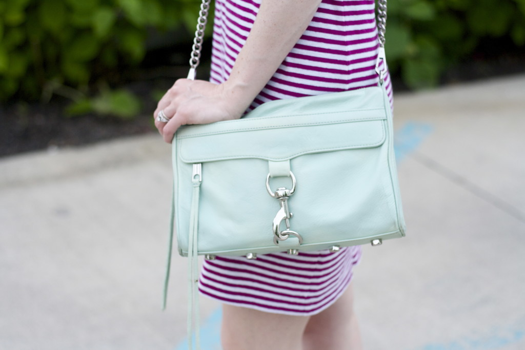 striped t-shirt dress, Soludos espadrilles, Rebecca Minkoff MAC bag outfit